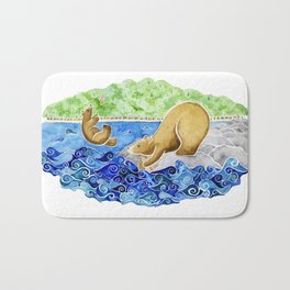 Baby Bear Takes A Tumble Bath Mat