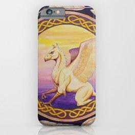 The Guardian - Celtic Griffin mandala iPhone Case