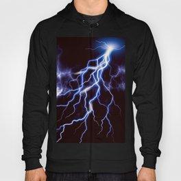 Blue Thunder Colorful Lightning graphic Hoody
