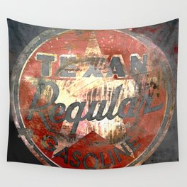 Texan - Vintage Label Wall Tapestry