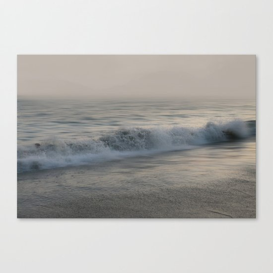 Misty Morning At Sea Canvas Print
