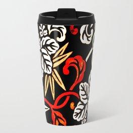 Autumn Floral Pattern Travel Mug