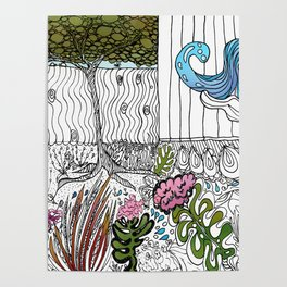 The Corner Garden Poster