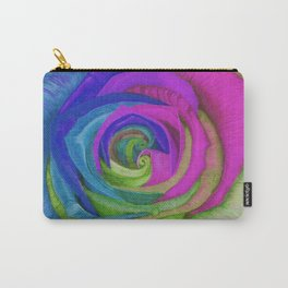 Splaaash!!!!!! (Neon Rainbow Rose) Carry-All Pouch