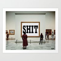 shit Art Prints featuring SHIT by LouiJoverArt
