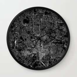 Columbus Black Map Wall Clock
