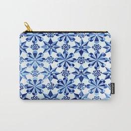 Frisia Blue White Dutch German Baltic Sea Pattern Carry-All Pouch