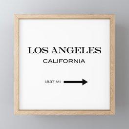Los Angeles - California Framed Mini Art Print
