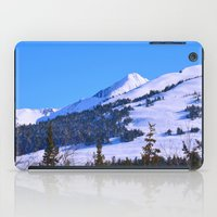 skiing iPad Cases featuring Back-Country Skiing  - IV by Alaskan Momma Bear