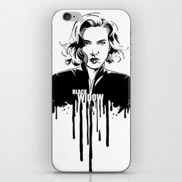 Fandom in Ink: Black Widow iPhone Skin