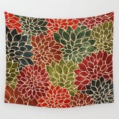 Floral Abstract 7 Wall Tapestry