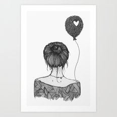 Girl With a Balloon Art Print