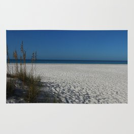 A Peaceful Day At A Marvelous Gulf Shore Beach Rug