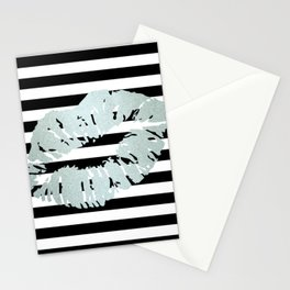 Stripes and Ice Kiss Stationery Cards