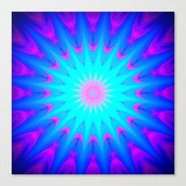 Fuchsia Pink & Blue starburst Canvas Print