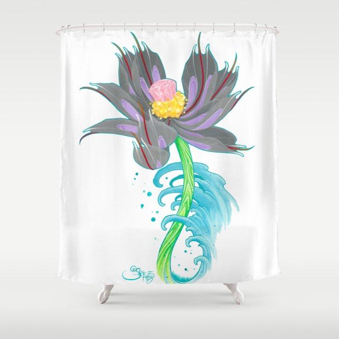 Pink Diamond Mech Lotus Shower Curtain