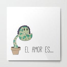Love is like a plant Metal Print