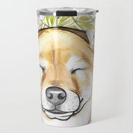 Jay Jay the happy Shiba Travel Mug