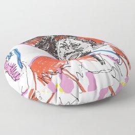 Aretha Franklin African American Singer Floor Pillow