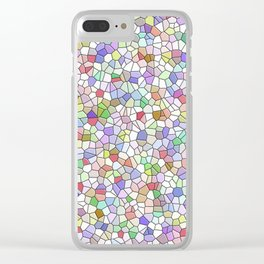 Stained Glass Mosaic Clear iPhone Case