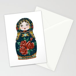 Intuition: Teal Matryoshka Doll Stationery Cards