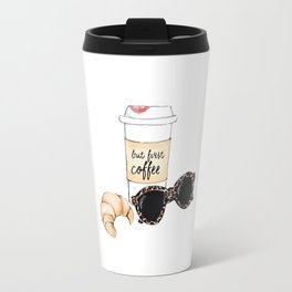 Coffee and croissant Travel Mug