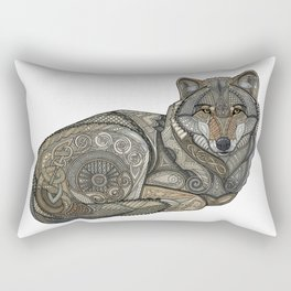 Norse Wolf Rectangular Pillow