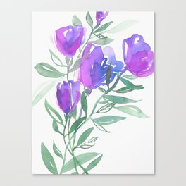 Tulipes Pourpres Canvas Print