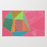 diamonds Area & Throw Rugs featuring Diamonds by Sandra Arduini