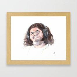 Jorge Garcia (Hurley) Framed Art Print