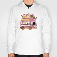 truck Hoodies featuring IceCream Truck by ShangheeShin