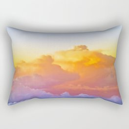 Above the clouds Rectangular Pillow
