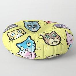 cat faces Floor Pillow
