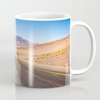 chile Mugs featuring Route 27, Atacama - Chile by klausbalzano