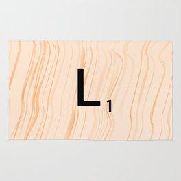 Scrabble Letter L - Large Scrabble Tiles Rug