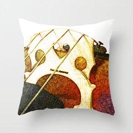 Just a Cello Bridge Throw Pillow