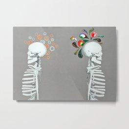 Right Brain // Left Brain Metal Print