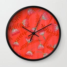 Mimosa Pattern Wall Clock