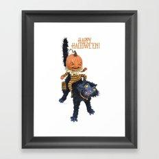 Rucus Studio Halloween Mischief Framed Art Print