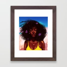 Purple X Melanin Framed Art Print