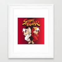 street fighter Framed Art Prints featuring Street Fighter by Zanderillos