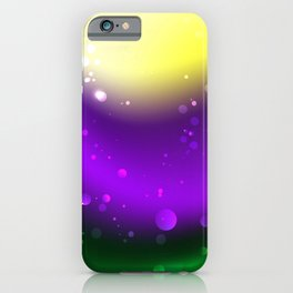 Abstract Mardi Gras Background iPhone Case