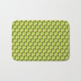 spring green cubes Bath Mat