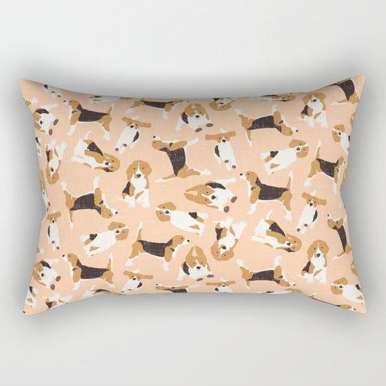 beagle scatter peach Rectangular Pillow