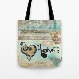 love note Tote Bag