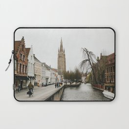 Canal in Bruges Laptop Sleeve