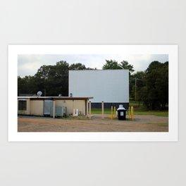 Drive-In Big Screen Art Print