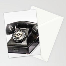 Teléfono Vintage y Retro color negro de mi abuelo de 1937 Stationery Cards