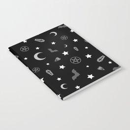 goth occult pattern Notebook