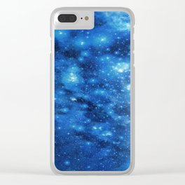 Blue Nebula - Galaxy Clear iPhone Case